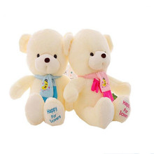 Hot  30cm Teddy Plush Scarf Bear children's gifts toys and birthday party decoration HL008