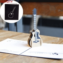 3D Pop Up Music Guitar Greeting Card Christmas Valentine Birthday Invitation