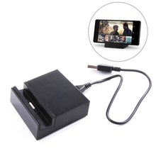 New Magnetic Charger Adapter Desktop Charging Cradle Dock for SONY Xperia Z1 Z2 Z3 Compact(Z3 Mini)L39h L55H + USB Cable black
