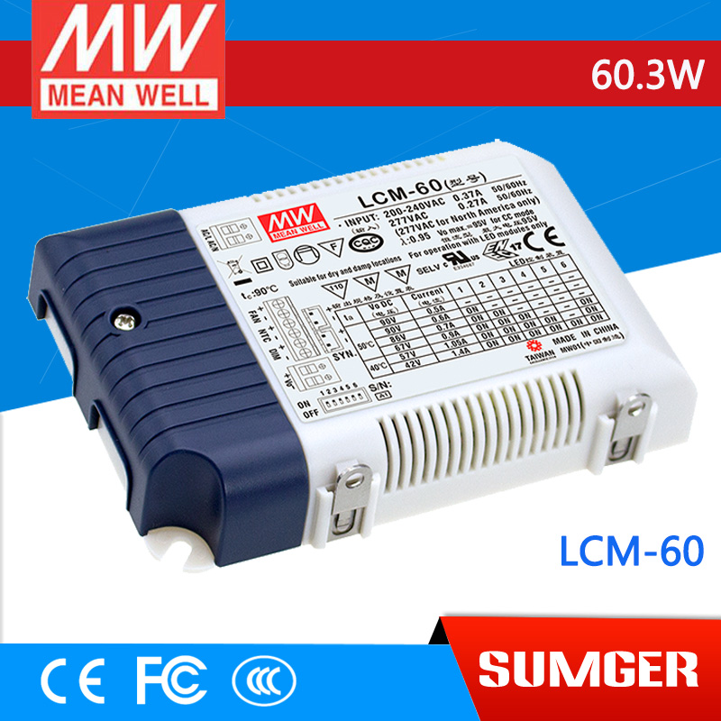 [SumgerT7] MEAN WELL original LCM-60 90V 600mA meanwell LCM-60 90V 60.3W Multiple-Stage Output Current LED Power Supply<br><br>Aliexpress