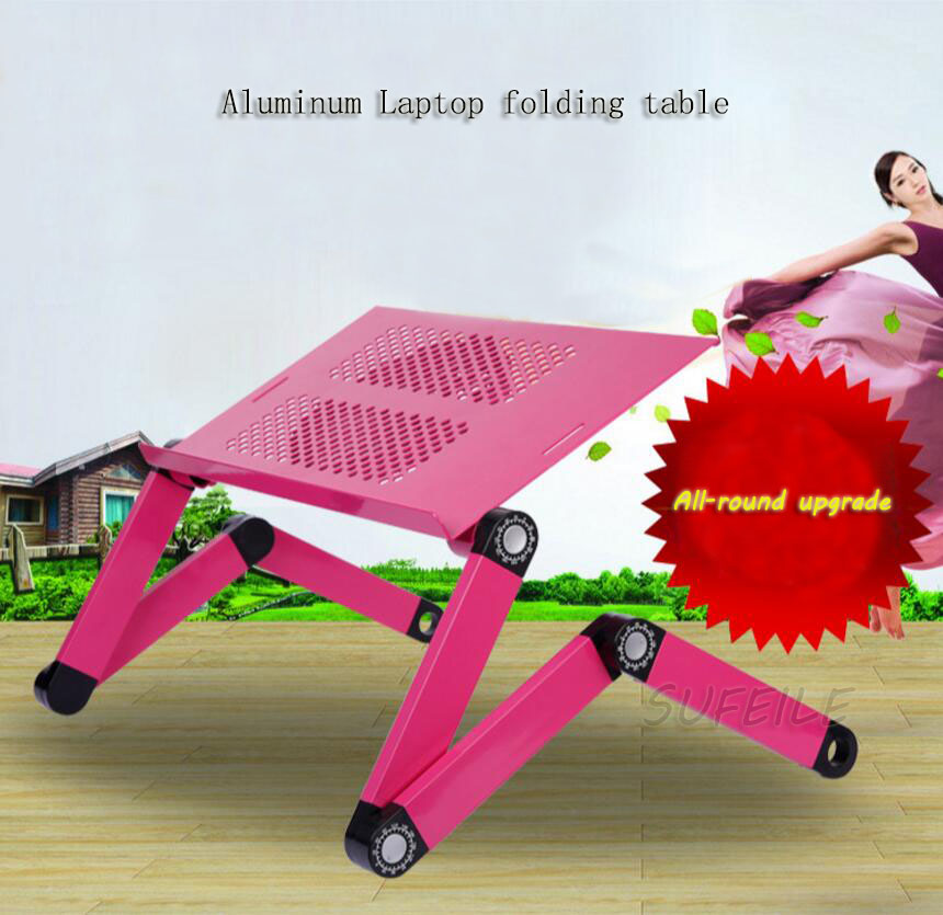 Hot Selling Laptop Table 360 Degree Adjustable Folding Laptop Notebook PC Desk Table Black Stand Portable Bed Tray D5<br>