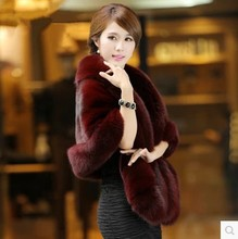 2017 autumn and winter new women high quality Europe and the United States fox fur fur coat was thin imitation mink fur fur coat