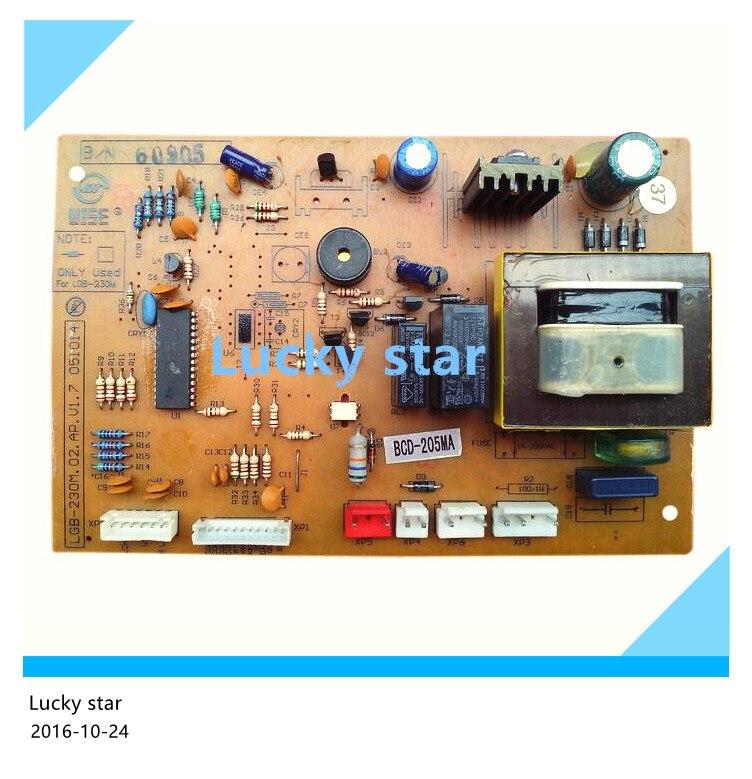 95% new for refrigerator motherboard computer board LGB-230M.02.AP.V1.7 051014<br>