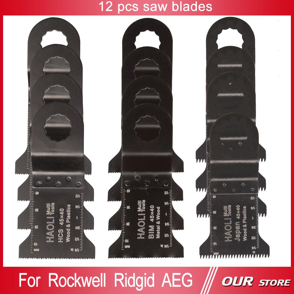 12  pcs 45mm oscillating multi tool saw blade for Ridgid AEG worx power tools accessories,wood metal cutiing,home decoration DIY<br><br>Aliexpress