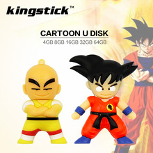 Cute Cartoon Goku Kuririn Gifts pen drive 64GB 8GB 16GB 32GB Dragon Ball Usb Flash Drive Pendrive memory stick u(China)
