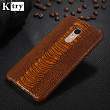 Xiaomi Redmi Note 4x Case K'try Chic Fashion Ostrich feet leather Case for Redmi Note 4 Note 4X Cover Ultra Slim Back Coque