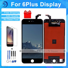 Best Quality Grade AAA For iPhone 6 Plus LCD Screen Touch Display Digitizer  High Copy Glass Black  White Free Shipping