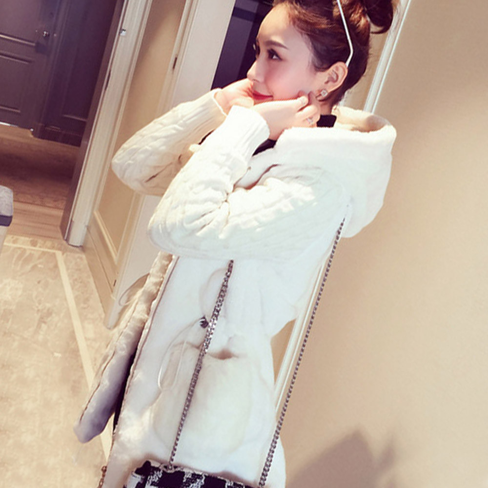 Winter new Knitted Coat Women 2018 Fashion Long Sleeve Cardigan Fluffy Knitting Plush Hoodies Jacket Warm Outerwear Fur Coats #0