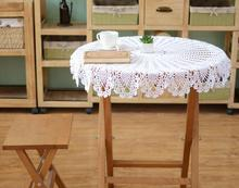 Modern DIY crochet white table cloth towel cover dining doilies lace cotton round kitchen tablecloth for home wedding decoration