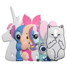 3D Cartoon Stitch Case For LG K10 M2 K420N K430DS / Q10 Rabbit Minnie Kitty Dog Bottle Horse Cover(China)