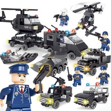 High Quality 360pcs/set SWAT Airplane Vehicle Aircraft Carrier Model Building Kits Toys DIY Mini Block Puzzle Fun Toys For Kids