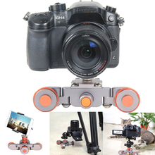 Buy Electric Autodolly Video Car Motorized DSLR Dolly Track Slider Skater Youtube Vlogging iPhone Nikon Canon camera for $44.36 in AliExpress store