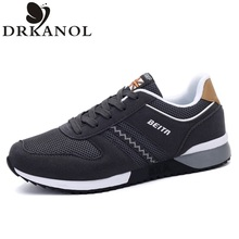 High Quality Men Shoes Casual Breathable Fashion  men shoes luxury brand Fitness Trainers Lace-Up Mens Flats chaussure homme