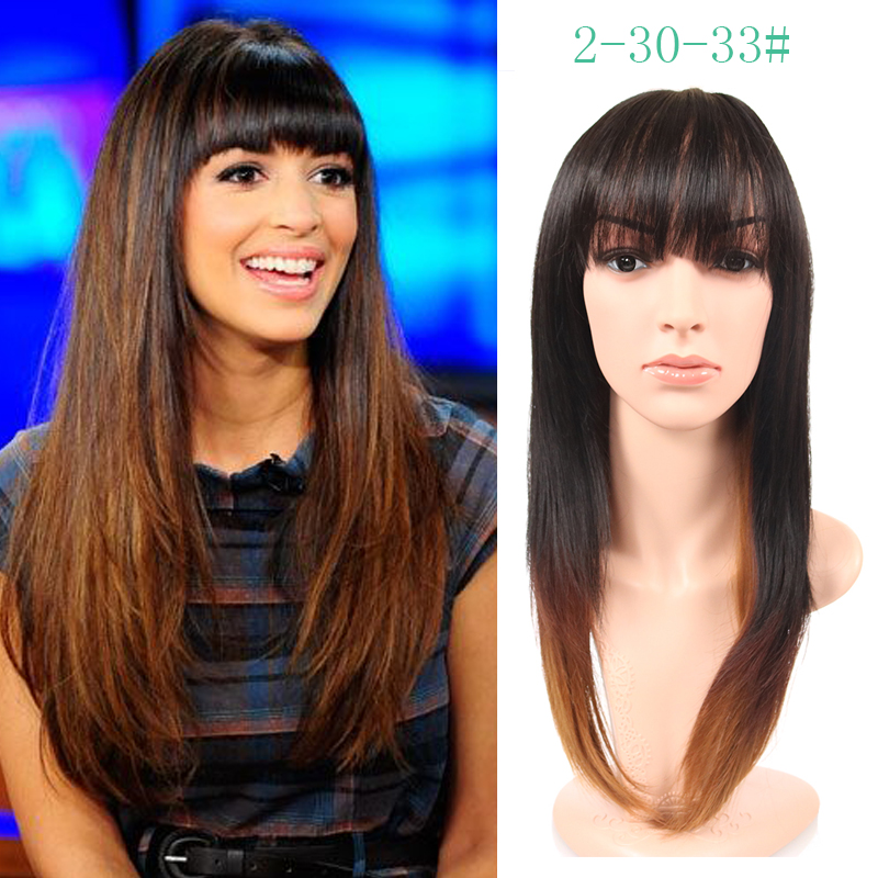 40%off cosplay wig Layered straight ombre harajuku Perruque synthetic wigs women Perucas PelucasPelo natural hair long black wig<br><br>Aliexpress