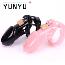 Buy 1 Set Male Chastity Device 5 Size Penis Ring Cock Cages Men Virginity Lock Chastity Lock Belt Cock Ring Adult Game