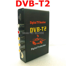 New 1pcs/lotHot Digital DVB T2 Car TV Receiver HDMI 1080P CVBS DVB-T2 Support H.264 MPEG4 Europe Russia Thai Market(China)