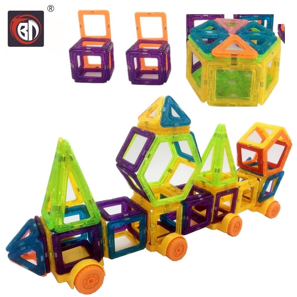 BD Toys 160pcsMagnetic Blocks Mini Magnetic Designer Construction 3D Model Magnetic Blocks Educational Toys For Children<br>