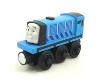 RARE new style wooden Thomas and friend train Chinldren child kids plastic toys blue train