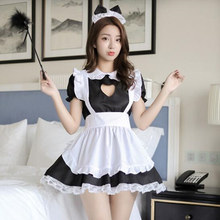 Buy Sexy Lingerie Cat Girl Cosplay Maid Uniform French Apron Maid Servant Lolita Babydoll Dress Erotic Role Play Sexy Costumes