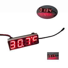 10pcs New Red 3 In 1 LED DS3231SN Digital Clock Temperature Voltage Module DIY Time/Thermometer/Voltmeter DC 5-30V(China)