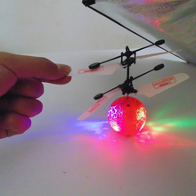 Flying Ball Toys With colorful infrared Induction toy Non-RC Helicoptero Floating UFO Drones(China)