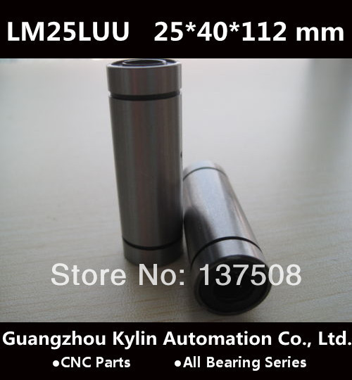 On Sale! 4pcs LM25LUU Linear Bearing 25x40x112 mm, 25mm linear bearings for CNC<br><br>Aliexpress