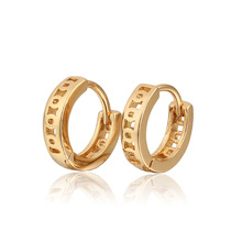 Wholesale 2017 Children Earring Gold Color Baby Hoop Earrings CC Children's Brinco Earings Fashion Free shipping 5E18K-81(China)