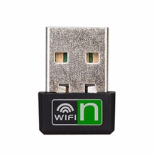 Mini WiFi Adapter 150Mbps USB Wireless Network Card Wifi Receiver Ethernet Adapter For Laptop PC with Retail Package Wholesale(China)