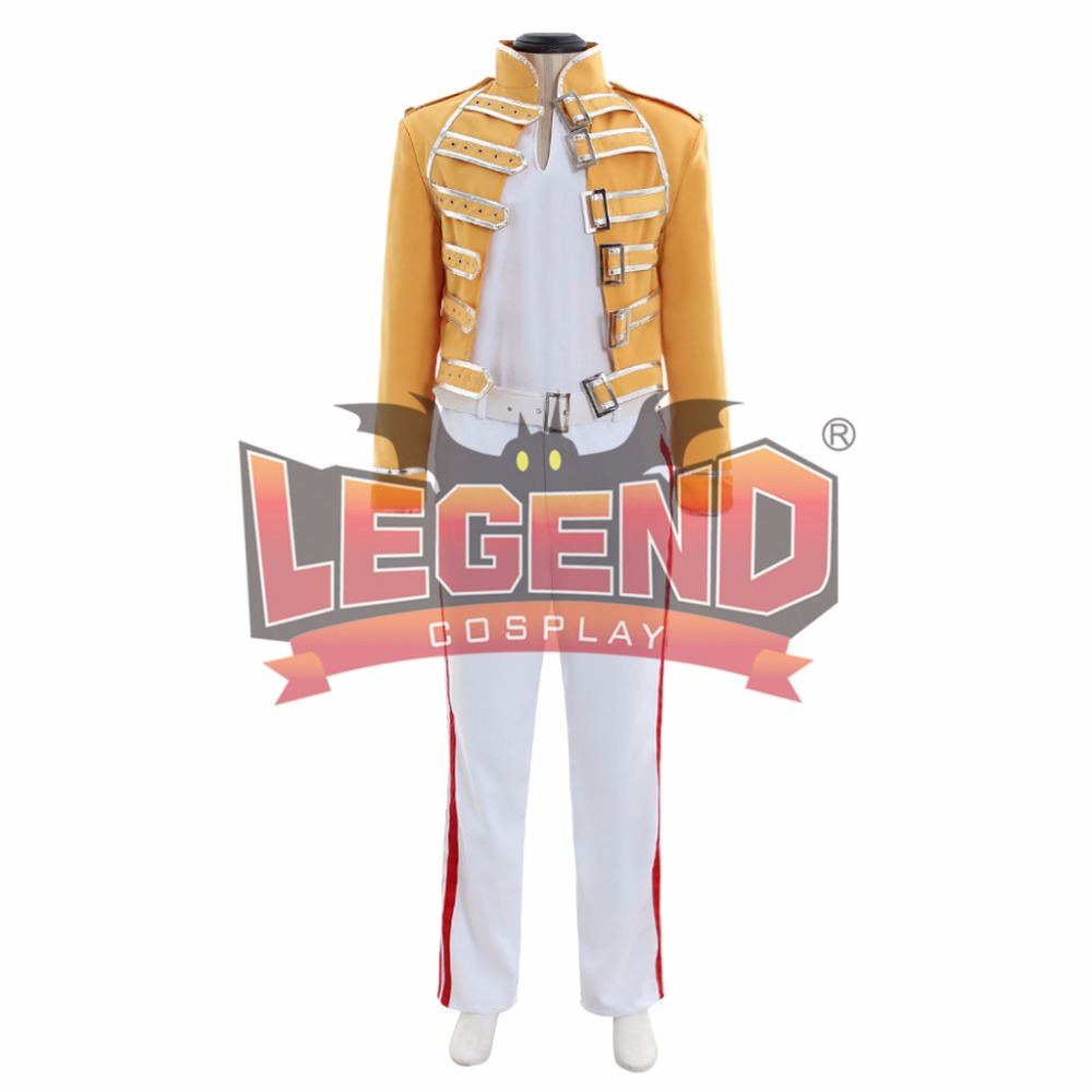Queen Lead Vocals Freddie Mercury Costume Rock Star Freddy Outfit Full Set Costumes Custom Made