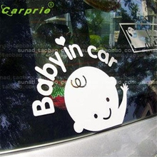 car-styling car Stickers In Car Waving Baby on Board Safety Sign Car Decal / Sticker DEC 23 Levert Dropship