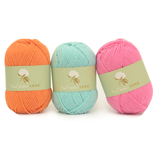 1pc Cotton Yarn High Quality Ring Worsted Blended Knitting Yarn Colorful Fine Dye 50g/pc
