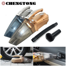 4 in 1 Car Vacuum Cleaner Car Inflator Pump Compressor Portable Dry and Wet Dual-use Multi-function Cleaner Car Tool CV005(China)
