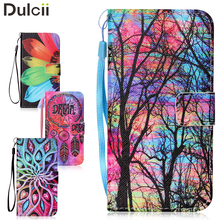 for Huawei Y5 II Leather Patterned Wallet Leather Case with Hand Strap for Huawei Y5II / Y5 II / Honor 5 Tree and Colorized Sky