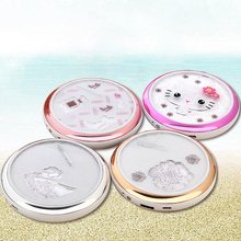 5000Mah Hello Kitty With Mirror Power Bank Cute Round External Battery Power Bank Portable Universal Charger