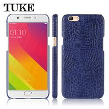 TUKE Crocodile Pattern Case for OPPO F1S Hard PC Back Cover For OPPO F1 S  A59 Mobile Phone Cases PU Leather Celular Funda Coque 883500e7489e
