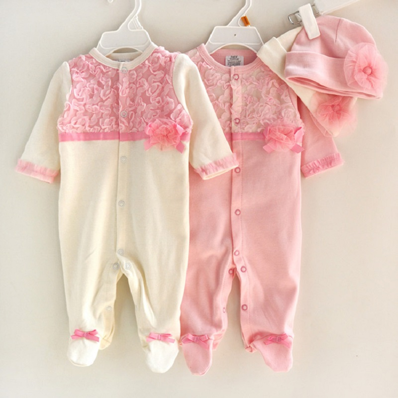100% cotton Baby girl romper infant princess outfit lace jumpsuit bebe coveralls vetement bebe new born baby clothes<br><br>Aliexpress