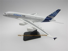 20cm Metal Alloy Plane Model Air Prototype Aircraft A380 Airbus 380 Development Aircraft Airways Airplane Model w Stand(China)