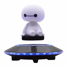 Magnetic Suspension Flying Saucer Showing Shelf Carrying Weight 450g 650g 800g Upper Suspension LED Round Display Stands(China)