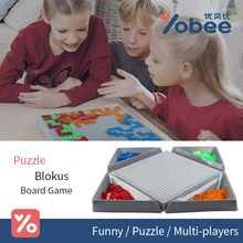 Yobee Puzzle Blokus Board Game Party Games for Children Kids Toys Family Game Multi player Chess Toy Set(China)