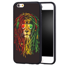 Rasta lion reggae bob marley phone case cover for iphone 7 7plus 6 6splus 5 5s 5c SE