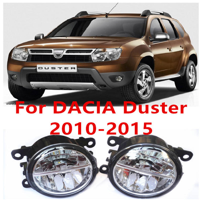 For DACIA Duster Closed Off-Road Vehicle  2010-2015 Fog Lamps LED Car Styling 10W Yellow White 2016 new lights DRL<br>