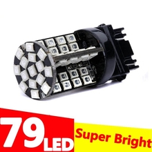T25 3157 P27/7W 79 smd LED car Lights motor daytime running light Turn Signal 3156 3057 3456 3757 RED YELLOW AMBER WHITE DC 12V
