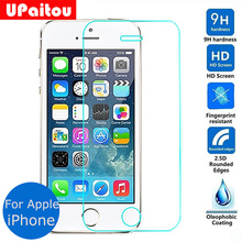 UPaitou For Apple iphone 5 5s 5c SE Tempered glass Screen Protector 2.5 9h Safety Protective Film on I5 I5S I5C Iphone5 Iphone5S(China)