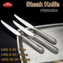 Free shipping Stainless steel Steak Knife,FR00384(China)