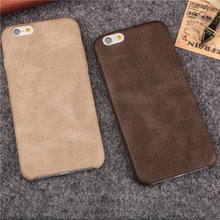 Imitate PU Leather Texture Cell Phone Cases for iPhone 6 6S 6Plus 6s plus 7 7Plus 8 8PLus X slim Soft PU protective Cover shell(China)