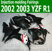 100% Injection molding motorcycle parts for YAMAHA  fairing kit 2002 2003 white black  fairings YZF R1 02 03 JK65