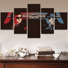 Modern Frames For Painting 5 Panel Music Blues Brothers Canvas Art Prints Wall Singers Picture For Home Decor Painting Kids Room