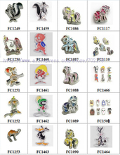 Hot Multiples options mixed animals Cartoon characters Floating Locket glass Charm Fit Living Floating Memory locket As Gift