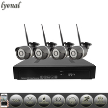 lyvnal Two way audio nvr kit 1080p with 4pcs 720p wifi camera p2p onvif ht-9313 wifi system kit 1tb 2tb hdd(China)