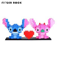 Finger Rock Stitch Action Figures Cartoon Characters Cute Model Fun Toys Anime Toys DIY Diamond Building Blocks Gifts(China)
